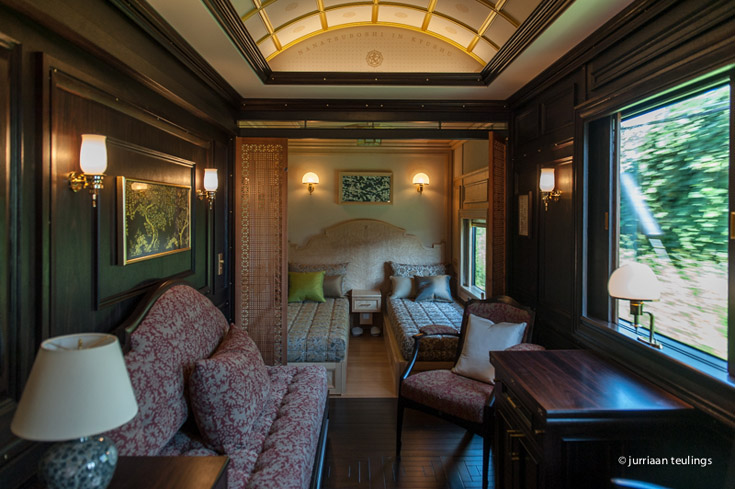Suite B of the 'Seven Stars in Kyushu' luxury train