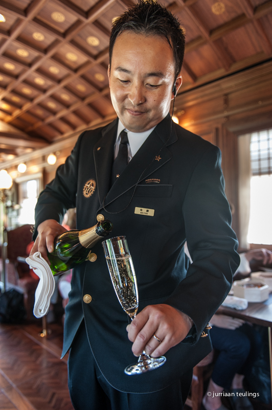 Lunch at the The 'Seven Stars in Kyushu' luxury train