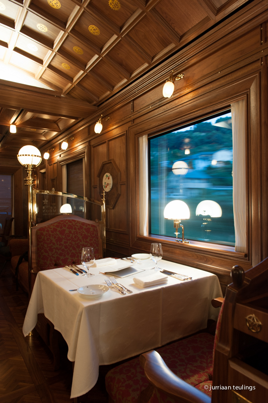 Lounge car of 'Seven Stars in Kyushu' luxury train