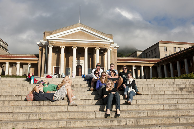 Students at UCT, Univercity of Cape Town, South Africa