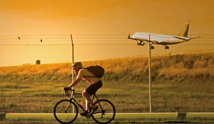 fiets-vliegtuig