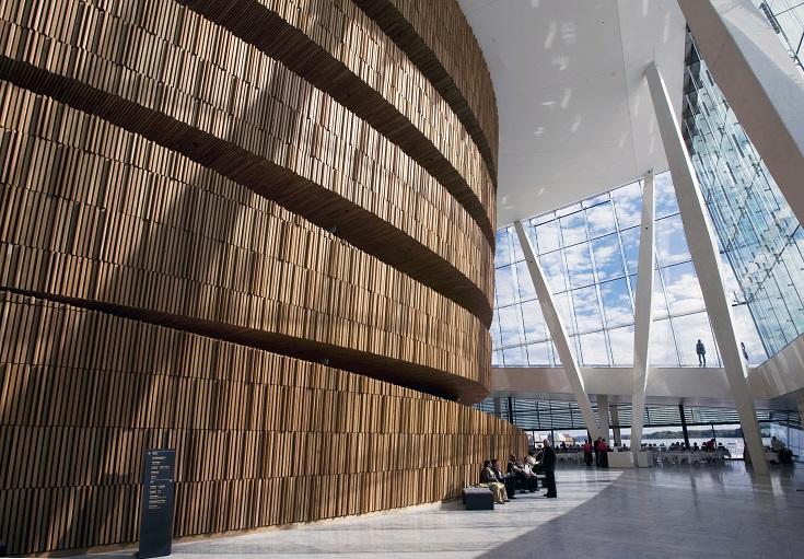 Het Operahuis (Operahuset) in Oslo. Foto door Erik Berg.