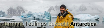 Jurriaan Teulings in Antarctica
