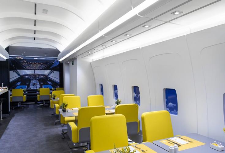 vliegtuig hotel