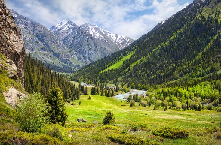 Indrukwekkend gebergte in Kazachstan
