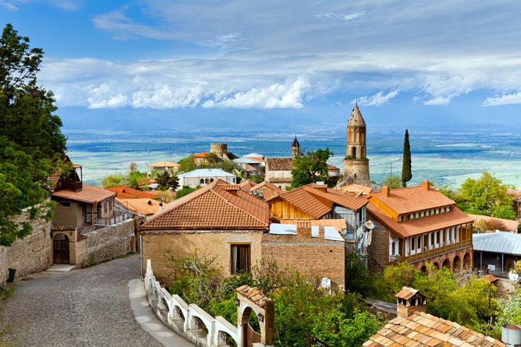 Door het hele land vind je pittoreske (berg)dorpjes, zoals het Oost-Georgische Signagi
