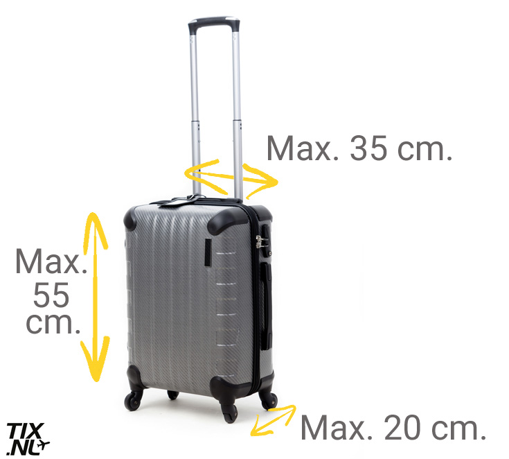 dca420ffaf5 ... om voor elke airline een koffer te kopen die mee mag als handbagage,  kun je het beste een trolley of tas kopen die bij (vrijwel) alle airlines  mee mag.