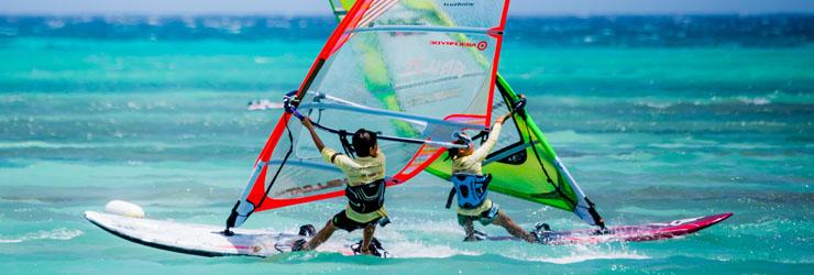 Windsurfen op Aruba